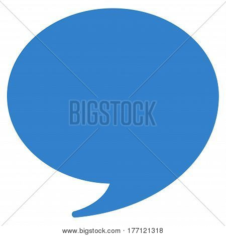 Quote vector icon. Flat cobalt symbol. Pictogram is isolated on a white background. Designed for web and software interfaces.