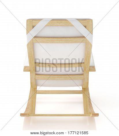 Rocking Chair Isolated On White Background.