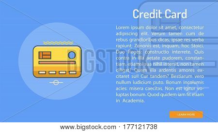Credit Card Conceptual Banner | Great banner flat design illustration concepts for Business, Creative Idea, Marketing and much more
