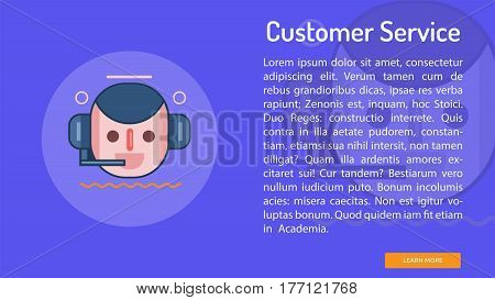 Customer Service Conceptual Banner | Great banner flat design illustration concepts for Business, Creative Idea, Marketing and much more