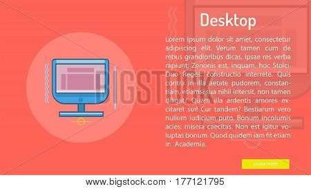 Desktop Conceptual Banner | Great banner flat design illustration concepts for Business, Creative Idea, Marketing and much more