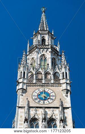New Town Hall at Marienplatz Square. Munich. Bavaria. Germany.