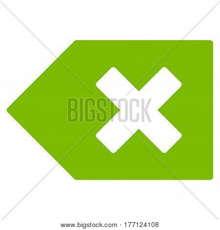 Backspace vector icon. Flat eco green symbol. Pictogram is isolated on a white background. Designed for web and software interfaces.