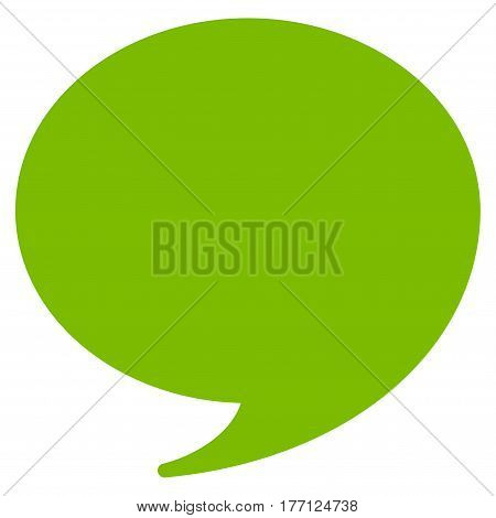 Quote vector icon. Flat eco green symbol. Pictogram is isolated on a white background. Designed for web and software interfaces.