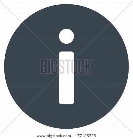 Info vector icon. Flat smooth blue symbol. Pictogram is isolated on a white background. Designed for web and software interfaces.