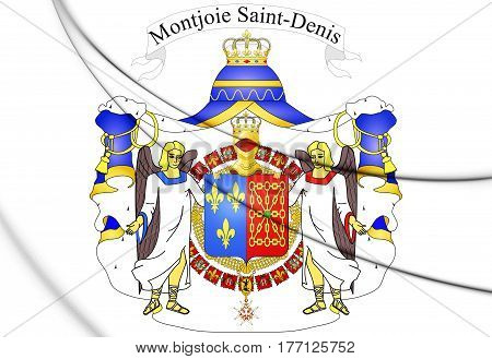 Coat Of Arms Of France And Navarre. 3D Illustration.