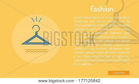 Fashion Conceptual Banner | Great banner flat design illustration concepts for Business, Creative Idea, Marketing and much more