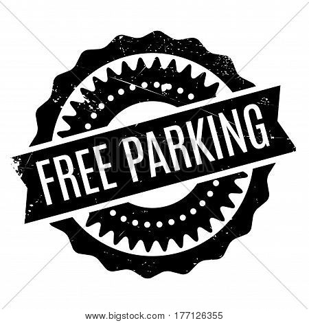 Free Parking stamp. Grunge design with dust scratches. Effects can be easily removed for a clean, crisp look. Color is easily changed.