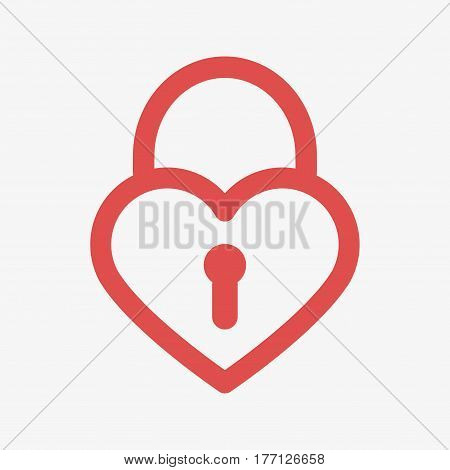 Heart Lock Icon