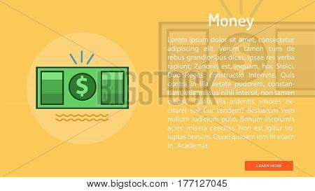 Money Conceptual Banner | Great banner flat design illustration concepts for Business, Creative Idea, Marketing and much more