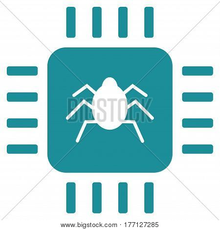 Hardware Bug vector icon. Flat soft blue symbol. Pictogram is isolated on a white background. Designed for web and software interfaces.