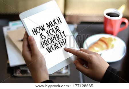 HOW MUCH IS YOUR PROPERTY WORTH? appraisal, appraised, asking, poster