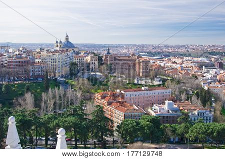 Panoramic view of Madrid city in Spain