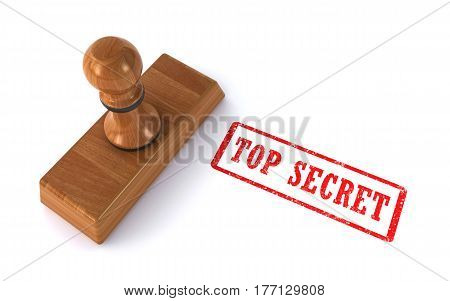 stamp top secret on the white background (3d rendering)