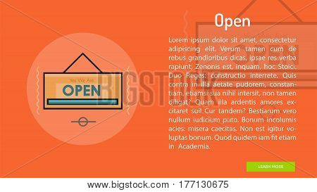 Open Conceptual Banner | Great banner flat design illustration concepts for Business, Creative Idea, Marketing and much more