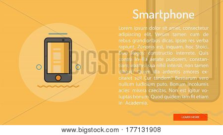 Smartphone Conceptual Banner | Great banner flat design illustration concepts for Business, Creative Idea, Marketing and much more