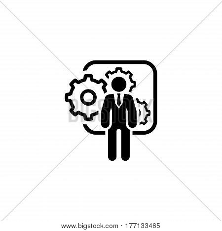 Integration Management Icon. Flat Design. Business Concept. Isolated Illustration