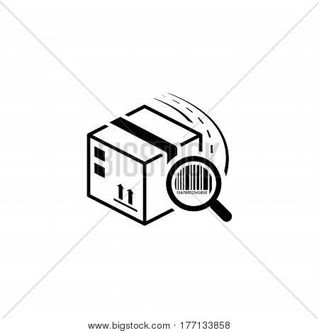 Package Tracking Icon. Flat Design. Business Concept. Isolated Illustration