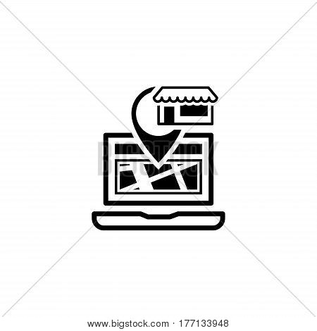 Store Location Icon. Flat Design. Business Concept. Isolated Illustration