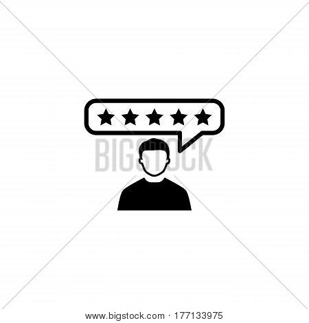 Customer Reviews Icon. Flat Design. Business Concept. Isolated Illustration
