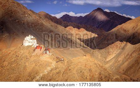 Sankar Buddhist Monastery in Leh, Ladakh, India