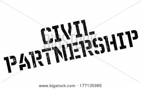 Civil Partnership rubber stamp. Grunge design with dust scratches. Effects can be easily removed for a clean, crisp look. Color is easily changed.