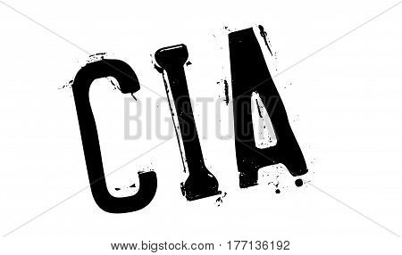 Cia rubber stamp. Grunge design with dust scratches. Effects can be easily removed for a clean, crisp look. Color is easily changed.