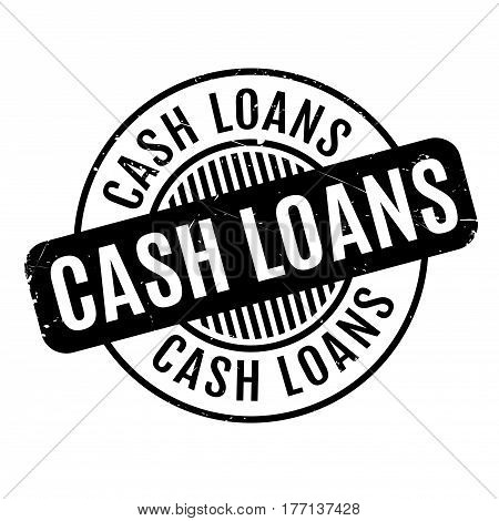 Cash Loans rubber stamp. Grunge design with dust scratches. Effects can be easily removed for a clean, crisp look. Color is easily changed.