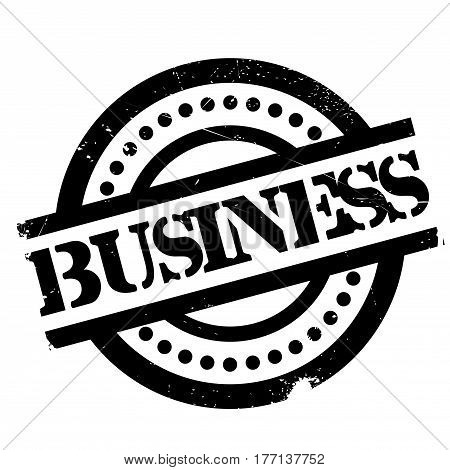 Business rubber stamp. Grunge design with dust scratches. Effects can be easily removed for a clean, crisp look. Color is easily changed.