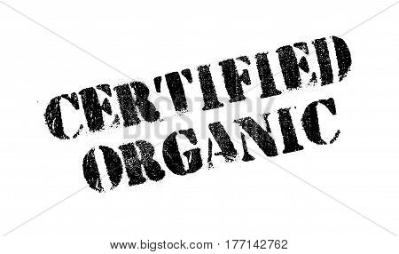 Certified organic rubber stamp. Grunge design with dust scratches. Effects can be easily removed for a clean, crisp look. Color is easily changed.