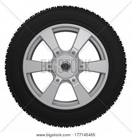 Black Tire With Alloy Wheel