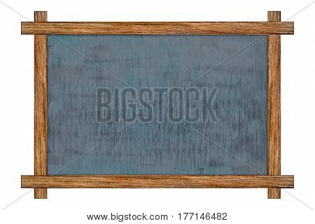 Vintage wood framed slate chalkboard decorative chalk board for rustic message signs isolated on white background with copy space for adding more text. (Clipping path included)