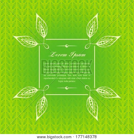 Green calligraphic decorative elements. Graphic elements mimic leaves. Retro style design Collection invitations, banners, posters, banners, icons and logos.