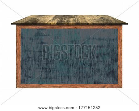 Outdoor chalkboard wood frame with black surface is great for the home office or school concepts Good size allows for drawings and writings. (Clipping path included)