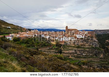 View to Villarluengo in  Teruel, Aragon, Spain