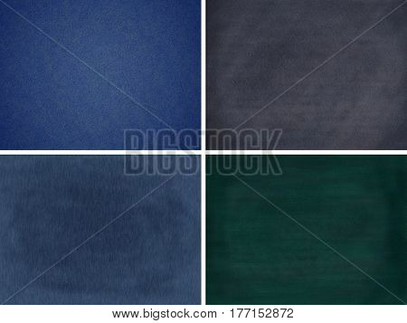 Blank chalkboard collection Isolated on white background (Clipping path included for design work)