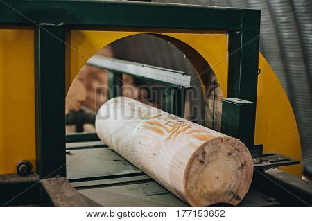 Wooden House Wall. Wall Made Of Logs. Wooden Wall From Logs.