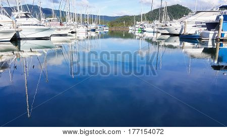 boats at Yorkeys Knob Marina Cairns Australia