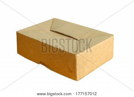 Empty, the cardboard box on white background