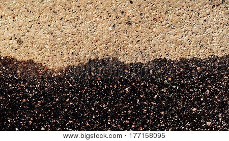 Asphalt, asphalt texture, scabrous asphalt background, wet asphalt, wet road, asphalt background.