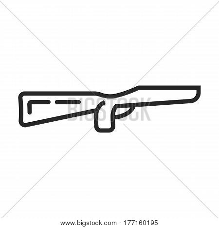 Rifle Butt Vector Icon