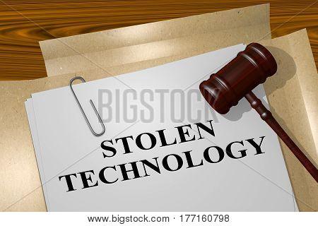 Stolen Technology - Legal Concept