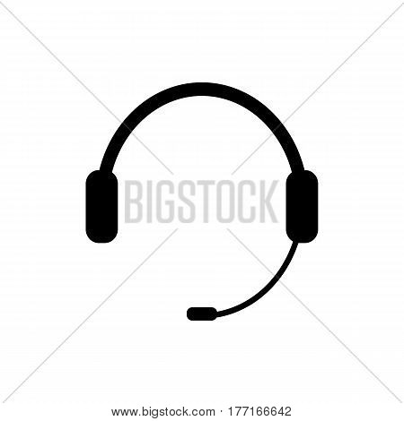 Headphones, chat icon, vector illustration on white background eps 10