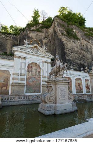 The bath for horses in Salzburg was constructed by the famous Baroque architect Johann Bernhard Fischer von Erlach.Salzburg Austria