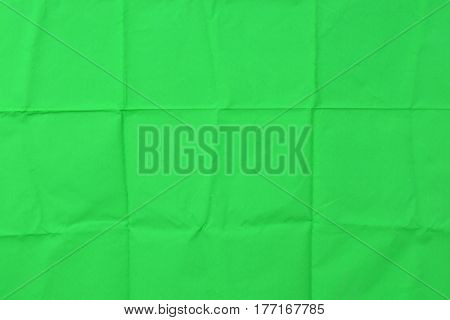 Green chromakey background crease and copy space for add text