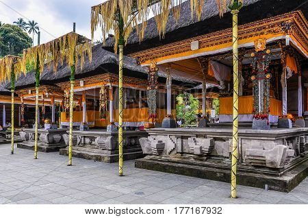 Decorated Temple In Tirta Empul Temple, Bali, Indonesia