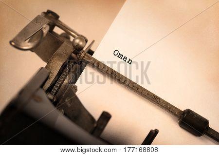 Old Typewriter - Oman