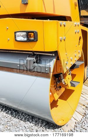 Construction asphalt compactor for asphalt paving at the exhibition