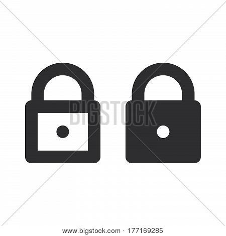 Lock padlock thick line and solid icon outline and filled vector sign linear and full pictogram isolated on white. Password symbol logo illustration