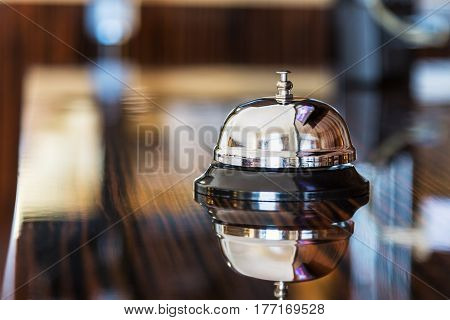 Hotel Concierge. service bell in a hotel or other premises